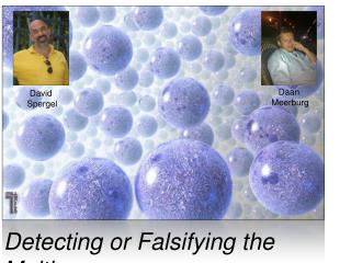 Detecting or Falsifying the Multiverse