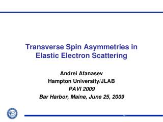 Transverse Spin Asymmetries in Elastic Electron Scattering