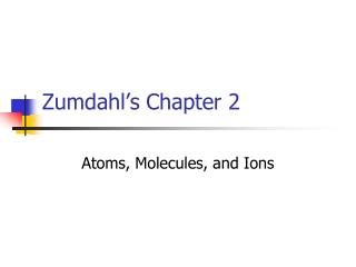 Zumdahl's Chapter 2