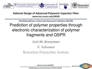 Prediction of polymer properties through electronic characterization of polymer fragments and QSPR
