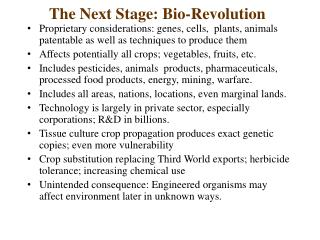 The Next Stage: Bio-Revolution
