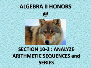 ALGEBRA II HONORS @