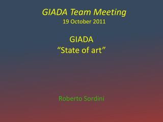 "GIADA ""State of art"""