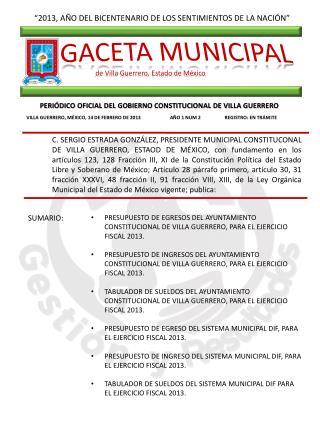 """""""2013, AÑO DEL BICENTENARIO DE LOS SENTIMIENTOS DE LA NACIÓN"""""""