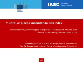 t owards an  Open Humanitarian Risk Index