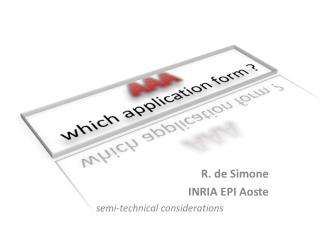 AAA which application form ?