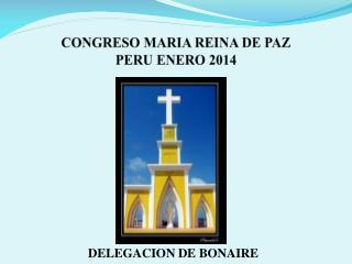 CONGRESO MARIA REINA DE PAZ  PERU ENERO 2014