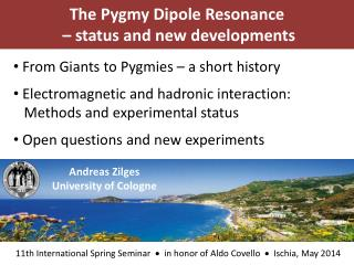 The  Pygmy  Dipole  Resonance  –  status and new developments