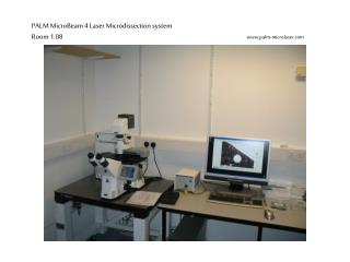 PALM MicroBeam 4 Laser Microdissection system Room 1.08