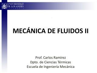 MECÁNICA DE FLUIDOS II