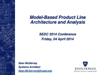 Model-Based Product Line Architecture and Analysis