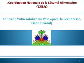 « Coordination Nationale de la Sécurité Alimentaire» (CNSA)