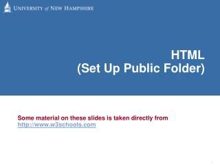 HTML  (Set Up Public Folder)