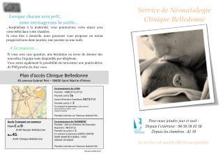Service de  N�onatalogie Clinique Belledonne