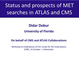 Status and prospects of MET searches in  ATLAS and CMS