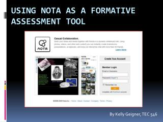 Using Nota as a Formative Assessment Tool