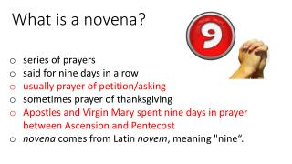 What is a novena?