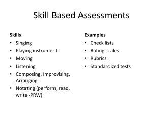 Skill Based Assessments