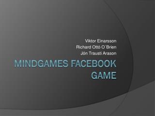 Mindgames facebook game
