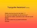 Topografie Nederland 8 dia s