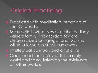 Original Practicing