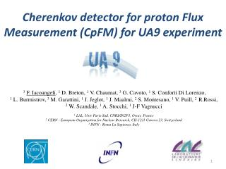 Cherenkov  detector for proton Flux Measurement (CpFM ) for UA9 experiment
