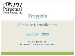 Database Normalization Sept 15 th  2009