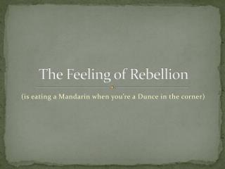 The Feeling of Rebellion