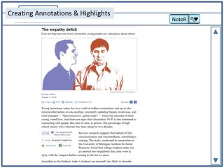 Creating Annotations & Highlights