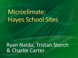 Microclimate:  Hayes School Sites