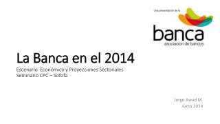 La Banca en el 2014 Escenario  Económico y Proyecciones Sectoriales Seminario CPC – Sofofa