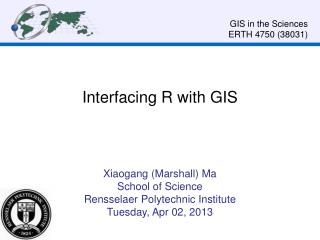 Interfacing R  with  GIS