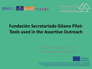 Fundación Secretariado Gitano Pilot:  Tools used in the Assertive Outreach