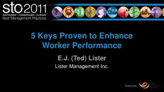 5 Keys Proven to Enhance Worker Performance