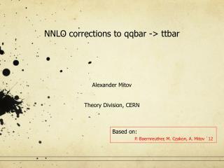NNLO corrections to  qqbar  ->  ttbar