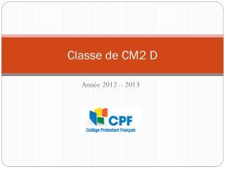 Classe de CM2 D