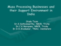 Musa Processing Businesses and their Support Environment in India
