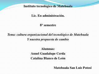 Instituto  tecnológico de Matehuala  Lic. En administración. 8° semestre