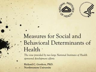 M easures  for  Social  and  Behavioral  D eterminants  of  Health