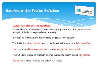 Cardiovascular  System  I nfection
