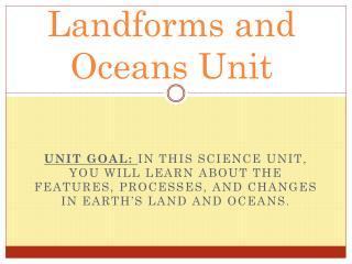 Landforms and Oceans Unit
