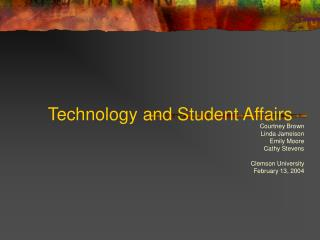 Technology and Student Affairs