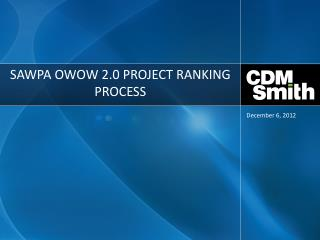 SAWPA OWOW 2.0 Project Ranking Process