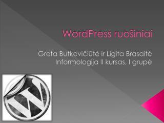 Word Press ruošiniai