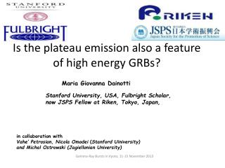 Is the plateau emission also a feature of high energy GRBs?