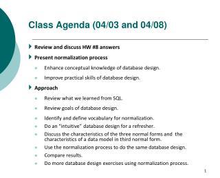 Class Agenda (04/03 and 04/08)