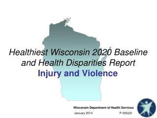 Healthiest Wisconsin 2020 Baseline and Health Disparities  Report Injury and Violence