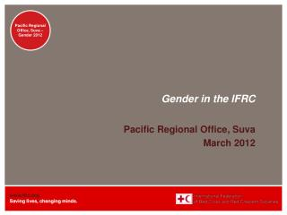 Gender  in the IFRC