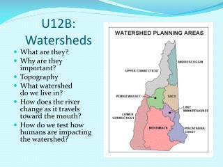 U12B: Watersheds