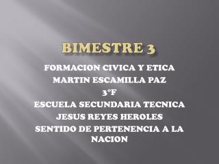 BIMESTRE 3